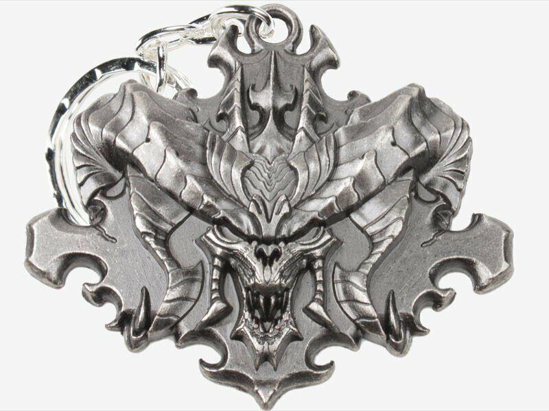 Брелок - Diablo III Face Keychain