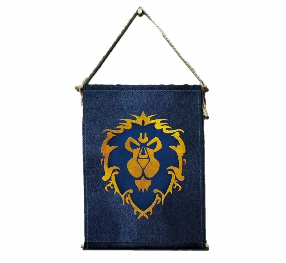 Знамя флаг Альянса World of Warcraft Alliance Flag banner (40х55 см)