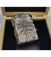 Зажигалка WORLD OF WARCRAFT The lich king Lighter (silver) + подарочная коробка из дерева