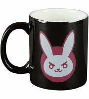 Чашка JINX Overwatch - D.VA Ceramic Black/Pink