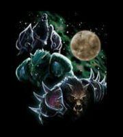Футболка World of Warcraft Three Worgen Moon ( M, XL)