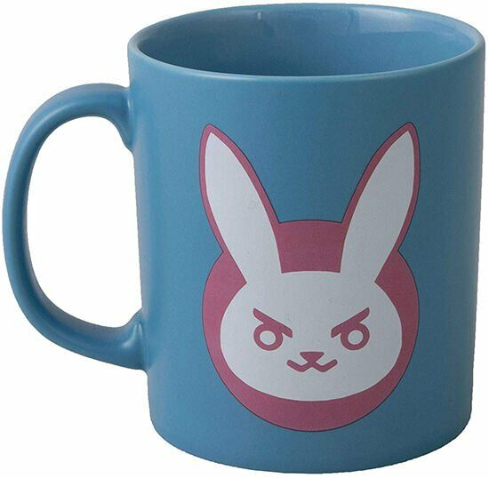 Чашка JINX Overwatch - D.VA Ceramic Blue/Pink