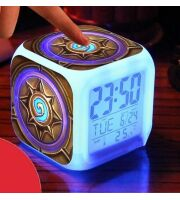 Часы будильник ночник  Hearthstone