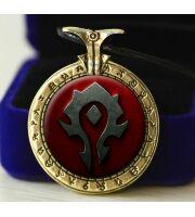 Медальон World of Warcraft Horde (Металл + стекло) №4