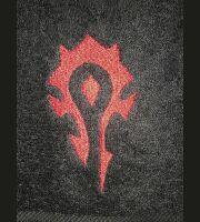 Полотенце со знаком Орды (Horde World of Warcraft Towel) 35 x 62 cm