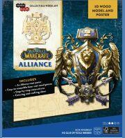 Конструктор из дерева 3D - World of Warcraft Alliance Incredibuilds Wood Model