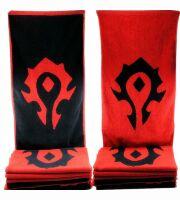 Полотенце со знаком Орды (Horde World of Warcraft Towel) 35 x 75cm