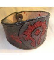 Кожаный браслет  World of Warcraft Horde