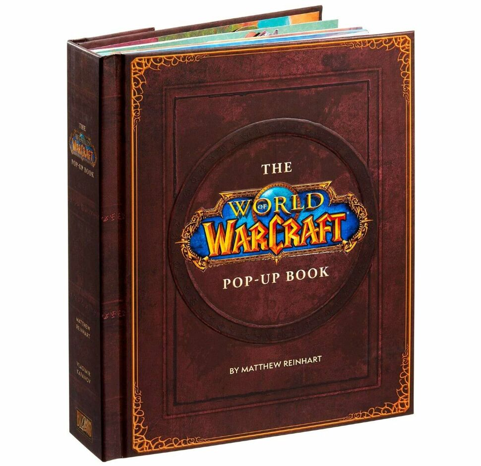Книга 3D Трехмерная карта Азерота World of Warcraft Pop-Up Book (Твёрдый переплёт) (Eng)