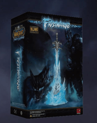 Frostmourne фростморн World of Warcraft: Wrath of the LICHKING SWORD WITH BLUE LIGHT